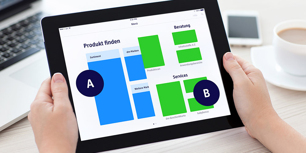 image: iPad prototypes: A-B-Test